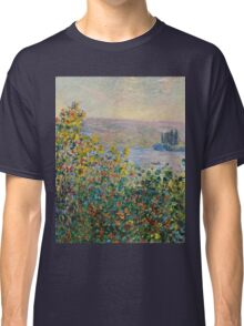 Claude Monet - Flower Beds at Vetheuil (1881)  Classic T-Shirt