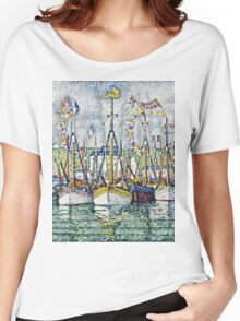 Paul Signac - Blessing Of The Tuna Fleet At Groix  Women's Relaxed Fit T-Shirt