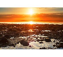 reflections at rocky beal beach Photographic Print