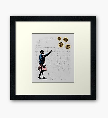 Girl and waffles Framed Print
