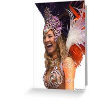 Samba Dancer Having a Laugh!  Greeting Card