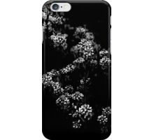 Backyard Flowers In Black And White 33 iPhone Case/Skin