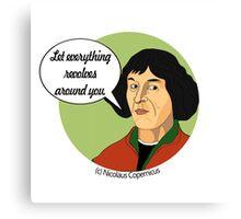 Funny Science Nicolaus Copernicus Canvas Print