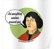 Funny Science Nicolaus Copernicus Poster