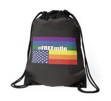#FREEmilo flag in distress Drawstring Bag