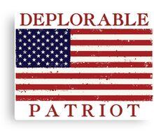 Deplorable Patriot Canvas Print