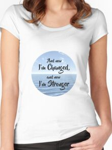 And now I'm Stronger Women's Fitted Scoop T-Shirt