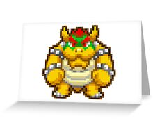 Bowser sprite Greeting Card