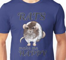 Rats make me happy - Agouti hooded ver. Unisex T-Shirt