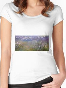 Claude Monet - Water Lilies (1915 - 1926)  Women's Fitted Scoop T-Shirt