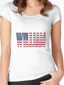 William (USA) Women's Fitted Scoop T-Shirt