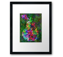 Complex Pear Framed Print