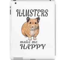 Hamsters make me happy ginger ver. iPad Case/Skin