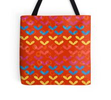 Colorful Grunge Hearts Pattern Tote Bag