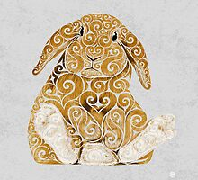 Swirly Bunny by . VectorInk