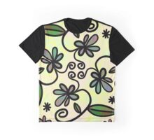 Abstract Floral Flower Style Graphic T-Shirt