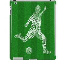 Soccer Football Languages Typography iPad Case/Skin