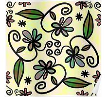 Abstract Floral Flower Style Poster