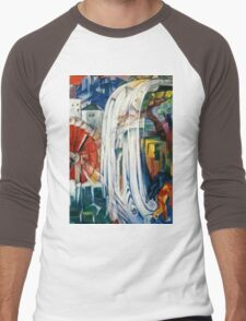 Franz Marc - The Bewitched Mill (1913)  Men's Baseball ¾ T-Shirt