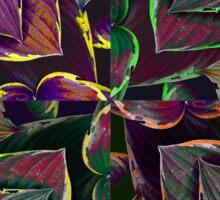 feuilles de couleur Sticker