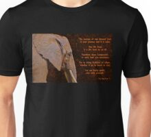 Compassion - Elephant and Quote Unisex T-Shirt