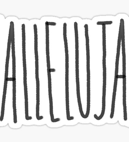 Hallelujah Sticker