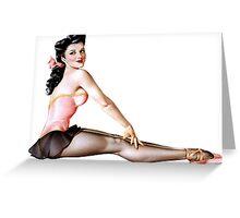 Gil Elvgren Pinup Ballerina Greeting Card