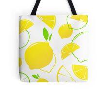 Fresh stylized Fruit : Lemon slices isolated on white Tote Bag