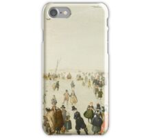 Hendrick Avercamp - Winter Scene on a Frozen Canal Skate iPhone Case/Skin