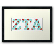 zeta tau alpha strawberries Framed Print