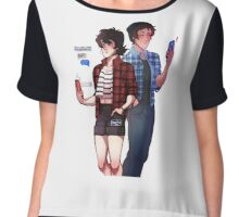 klance feat. outfits from my closet Chiffon Top