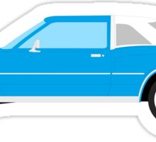 1977-1978 Dodge Diplomat - white & blue Sticker