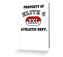 Property of Elite 4 Athletic Dept. Greeting Card