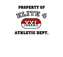 Property of Elite 4 Athletic Dept. Photographic Print