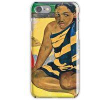 Paul Gauguin - Parau Api  What News (1892)  iPhone Case/Skin