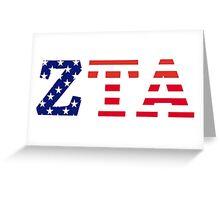 zeta tau alpha american flag Greeting Card