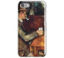 Paul Cezanne - Joueurs Cartes Players in cards iPhone Case/Skin