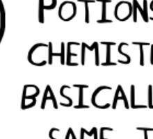 Wizards and chemists sticker Sticker