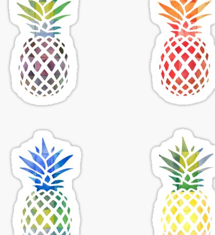 Colorful Pineapple Set Sticker