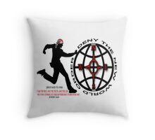 DENY THE NEW WORLD ORDER ~ PILLOW & TOTE BAG WITH BIBLICAL SCRIPTURE Throw Pillow