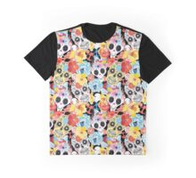 Cool pattern funny skulls Graphic T-Shirt