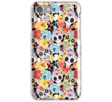 Cool pattern funny skulls iPhone Case/Skin