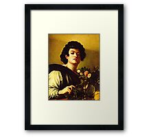 Michelangelo Da Caravaggio - Boy With A Carafe Of Roses  Framed Print