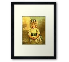 Miss Charlotte Papendick As A Child1788  Framed Print