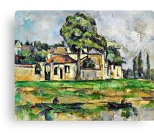 Paul Cezanne - Banks of the Marne (circa 1888)  Canvas Print