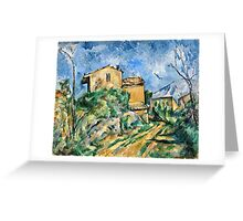 Paul Cezanne - Maison Maria with a View of Chateau Noir ( 1895)  Greeting Card