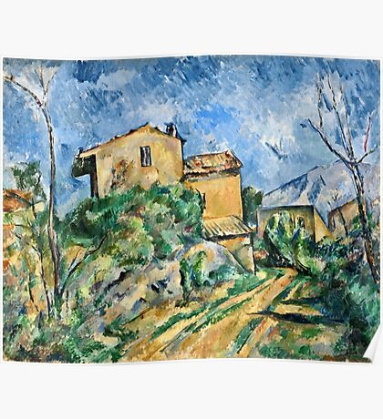 Paul Cezanne - Maison Maria with a View of Chateau Noir ( 1895)  Poster