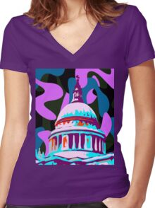 St. Pauls Cathedral - 2014 Women's Fitted V-Neck T-Shirt