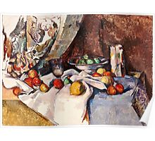 Paul Cezanne - Still Life with Apples (1895 - 1898)  Poster