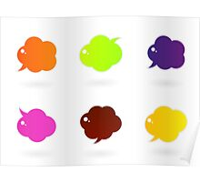 Vector speech glossy bubbles collection Poster